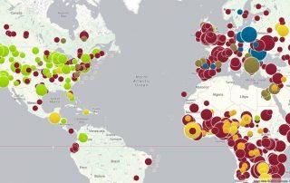 Outbreaks map